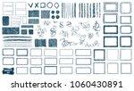 doodles set. scribble... | Shutterstock .eps vector #1060430891