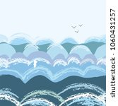 sea waves seamless pattern ... | Shutterstock .eps vector #1060431257