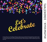 birthday party cards with dark... | Shutterstock .eps vector #1060437491