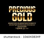 vector glossy precious gold... | Shutterstock .eps vector #1060438349