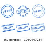 print stamps on white | Shutterstock .eps vector #1060447259