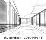 sketch design of interior hall  ... | Shutterstock . vector #1060449845