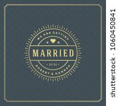 wedding save the date... | Shutterstock .eps vector #1060450841