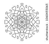 easy florals mandala coloring... | Shutterstock .eps vector #1060455065