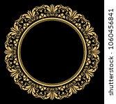 vintage round frame in retro... | Shutterstock .eps vector #1060456841