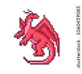 red dragon  cartoon pixel art... | Shutterstock .eps vector #1060459085