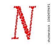 letter n heart | Shutterstock .eps vector #1060459691
