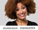 afro woman face closeup fake...   Shutterstock . vector #1060463594