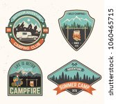 set of summer camp badges.... | Shutterstock .eps vector #1060465715