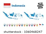 indonesia   high detailed map... | Shutterstock .eps vector #1060468247
