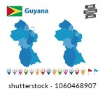 guyana   high detailed map with ... | Shutterstock .eps vector #1060468907