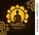 vesak day banner with gold... | Shutterstock .eps vector #1060471001