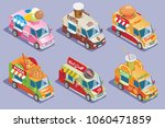 isometric food trucks... | Shutterstock .eps vector #1060471859