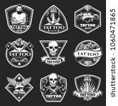 vintage tatoo studio logos set... | Shutterstock .eps vector #1060471865