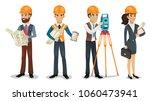 set of cartoon characters....   Shutterstock .eps vector #1060473941