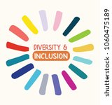 diversity and inclusion logo... | Shutterstock .eps vector #1060475189