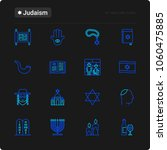 judaism thin line icons set ... | Shutterstock .eps vector #1060475885