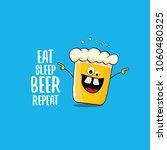eat sleep beer repeat vector...   Shutterstock .eps vector #1060480325
