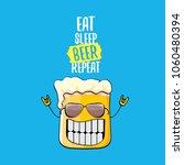 eat sleep beer repeat vector... | Shutterstock .eps vector #1060480394