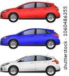 set of realistic hatchback car  ... | Shutterstock .eps vector #1060486355