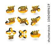 360 degree vector icons set ... | Shutterstock .eps vector #1060489619