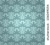 seamless blue damask vector... | Shutterstock .eps vector #106049054