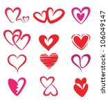 stylized hearts collection ... | Shutterstock .eps vector #106049147