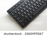 black keyboard of a computer...