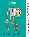 funny skeleton skater. print on ... | Shutterstock .eps vector #1060502915