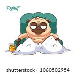 pug life. print on t shirts ... | Shutterstock .eps vector #1060502954