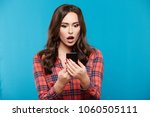 gorgeous young girl with nude... | Shutterstock . vector #1060505111