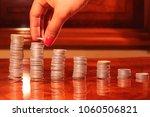 sorting of coins in ascending...   Shutterstock . vector #1060506821