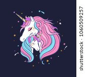 unicorn family. love. magic.... | Shutterstock .eps vector #1060509257