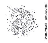 unicorn family. love. magic.... | Shutterstock .eps vector #1060509281