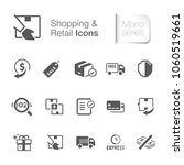 shopping   retail icons | Shutterstock .eps vector #1060519661