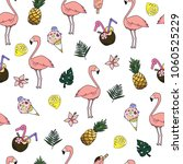 seamless vector cartoon doodle... | Shutterstock .eps vector #1060525229