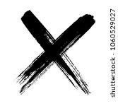 grunge letter x.hand drawn x... | Shutterstock .eps vector #1060529027