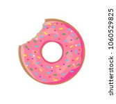 donut with sprinkles isolated... | Shutterstock .eps vector #1060529825