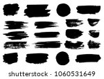 vector black paint brush spots  ... | Shutterstock .eps vector #1060531649