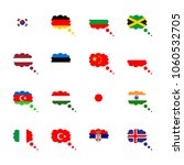 icon flag with flag of hungary  ...   Shutterstock .eps vector #1060532705