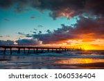 people walking on glenelg beach ... | Shutterstock . vector #1060536404