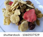 healthy food  mix dried fruits...   Shutterstock . vector #1060537529