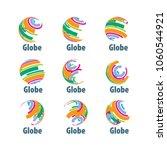 vector logo globe | Shutterstock .eps vector #1060544921
