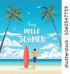 summer holiday poster. vector... | Shutterstock .eps vector #1060547759