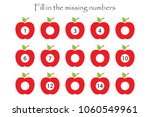 game with apples for children ... | Shutterstock .eps vector #1060549961