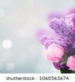 Bouquet Of Fresh Purple Lilac...