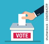 voting concept in flat style  ...   Shutterstock .eps vector #1060564259