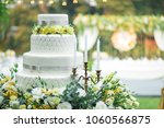 wedding cake wedding decoration ... | Shutterstock . vector #1060566875