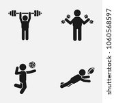 set of sport games and gym... | Shutterstock .eps vector #1060568597