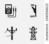 set of electricity flat vector... | Shutterstock .eps vector #1060568615
